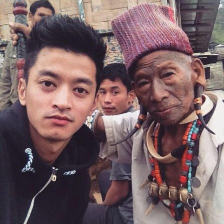 Bomdila, India: Our CEO with the Headhunter from Mon, Nagaland