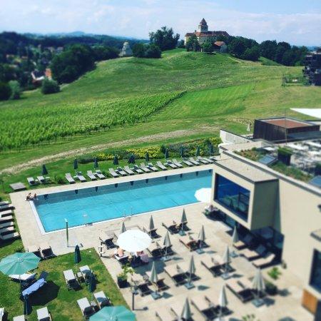 Ehrenhausen, Österreich: Blick aus der Prestige Suite 2 OG