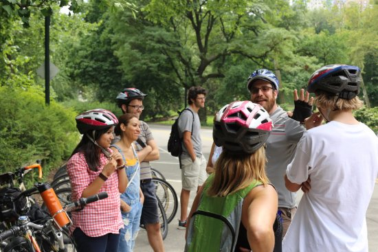 Bike the Big Apple: Strawberry Fields in Central Park (Marc played the song and we sang along before we went in)