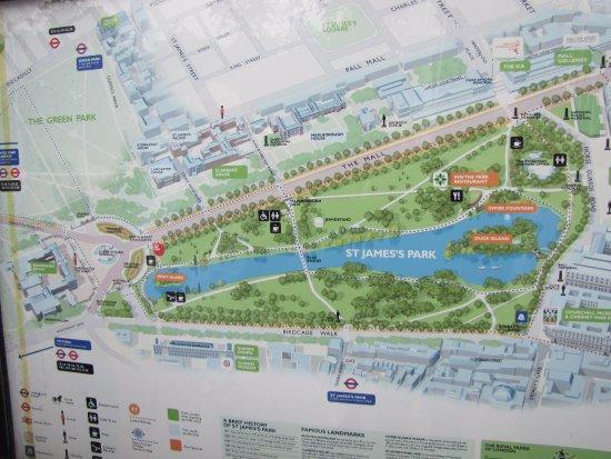 The map Picture of St Jamess Park London TripAdvisor