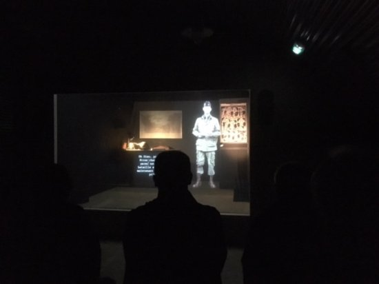 D-Day Experience (Dead Man's Corner museum): Briefing by commanding officer on your mission