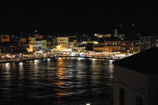 Alcanea Boutique Hotel: View from our balcony at night!