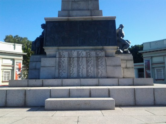 The Cenotaph: Roll of honour on cenotaph plinth