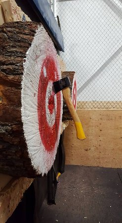 Bullseye Axe Throwing, Newmarket ON - taken by Laura Sharp