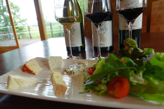Saussignac, Francia: The organic cheese platter at Chateau Feely