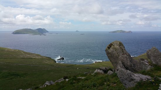 Dunquin, İrlanda: View from top of hiking trail