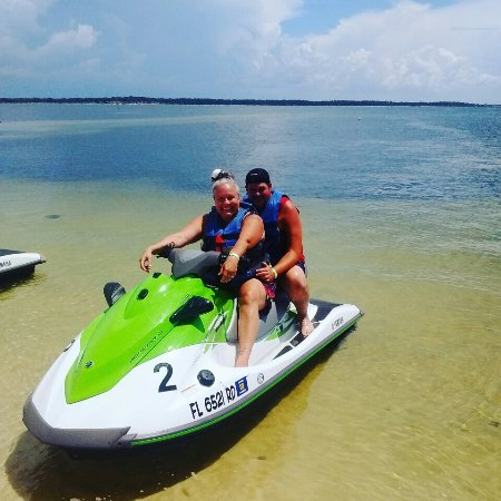 Mel Shell Jet Skiing In Paradise
