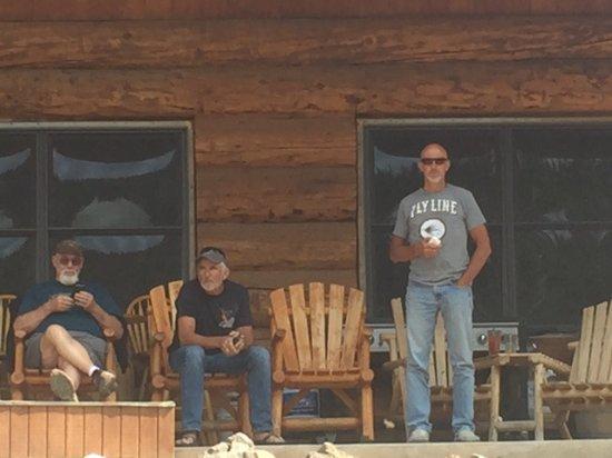 Mesa (Mesa County), Kolorado: deck on lodge