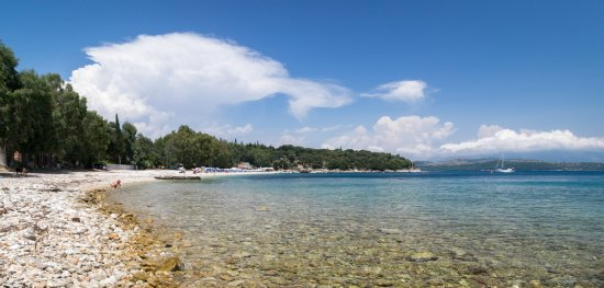 Kassiopi, Greece: View from the right side of Kerasia beach