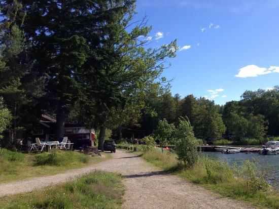 Värmdö, Sverige: Café outside