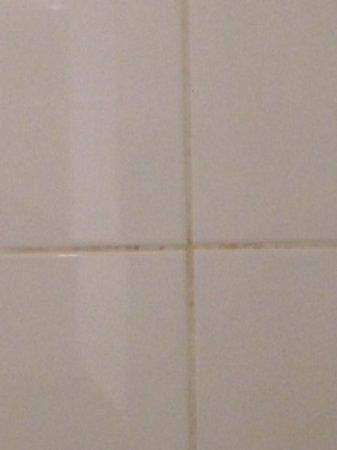 Templepatrick, UK: dirty bathroom tiles