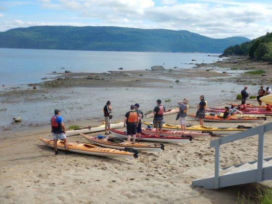 L'Anse-Saint-Jean, Canada: Session explicatif avant de rentrer dans l'eau