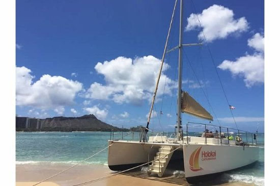 Holokai Catamaran Gorgeous Boat And The View Of Waikiki Beach Is Amazing