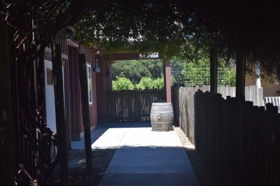 Unti Vineyards: The entrance to the tasting room.