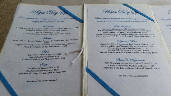 Asclepios Wellness & Healing Retreat: The menu