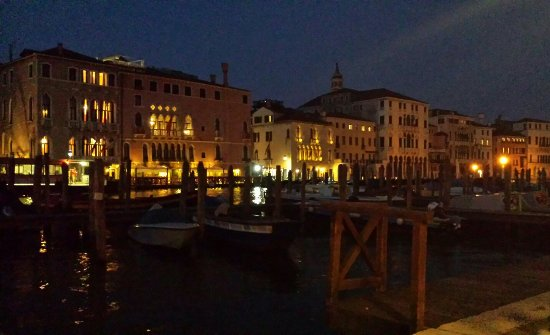 Good location overlooking the Grand Canal