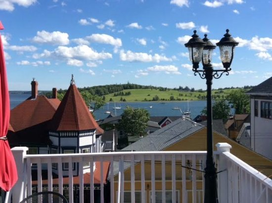 Boscawen Inn: View from our room