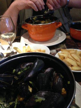 Rochefort, Belgique : Mussels