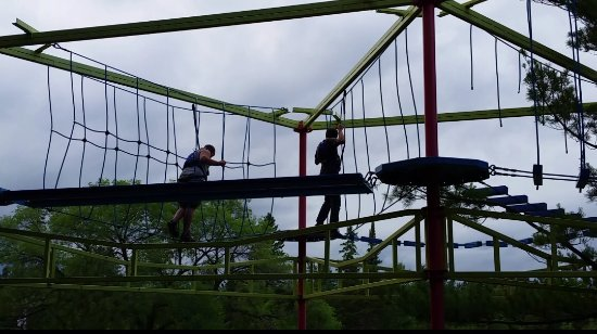 Indian River, MI: Rope course