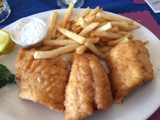 Presque Isle, MI: White fish and chips