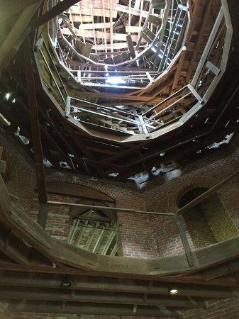 Natchez, MS: Looking up into unfinished rotunda