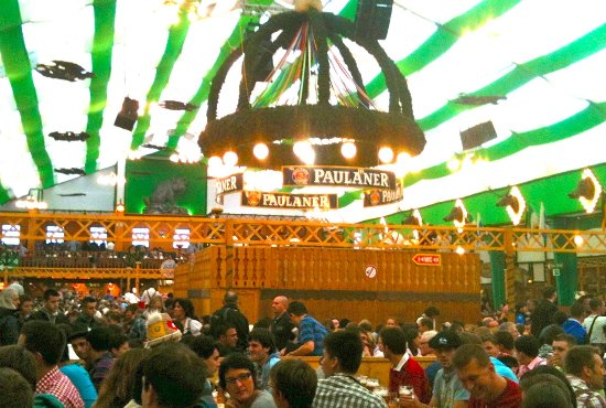 Giant Paulaner beer tent from an earlier Oktoberfest I attended! Oktoberfest music food u0026  sc 1 st  TripAdvisor & Giant Paulaner beer tent from an earlier Oktoberfest I attended ...