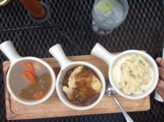 Cohasset, MA: Beef stew, shepherd's pie and cottage pie samplers.