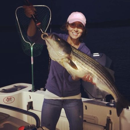 Kennebunkport, ME: The ladies showed us how to fish this trip!