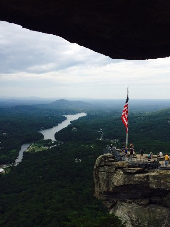 Taken from above chimney rock on our way to exclamation point