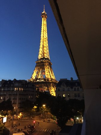 Pullman Paris Tour Eiffel View Of Tower From Hotel Room