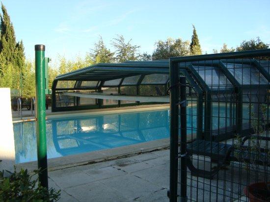Hotel Le Lagon : basen w otoczeniu zieleni