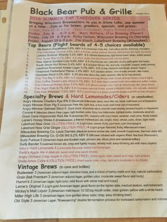 Stone Lake, WI: Best burger, some good cheese curds with a big beer list to go with