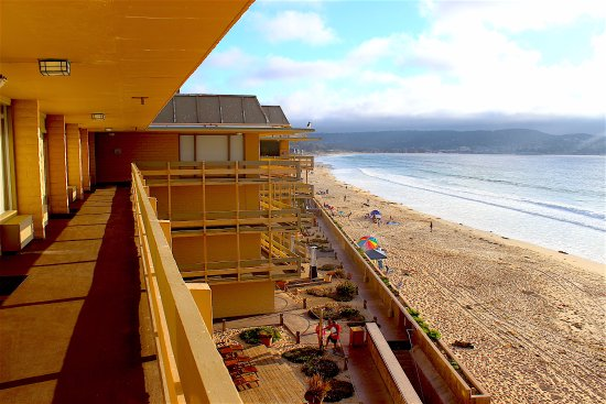 hotel view from the beach picture of monterey tides a. Black Bedroom Furniture Sets. Home Design Ideas