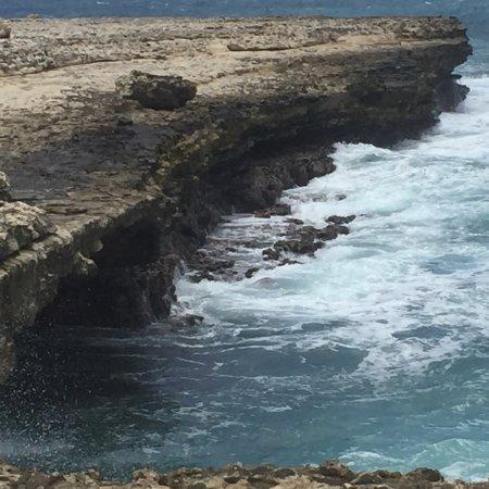 Saint Phillip Parish, Antigua: Raging ocean at Devil's Bridge