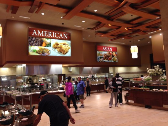 Cedar Plank Buffet: The American & Asian Food Sections