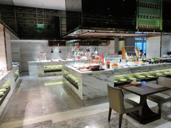 Jinhua, China: Buffet restaurant and breakfast room