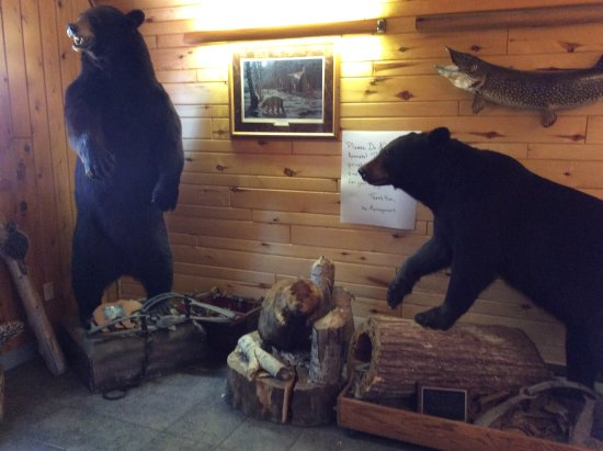 Bear Trap Inn: Front entrance a few bears