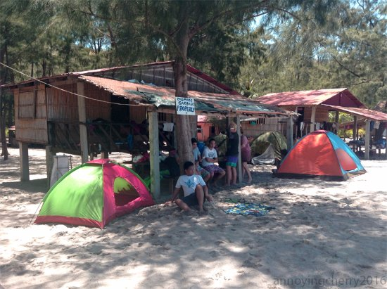 Talisayin Cove: our cottages plus tents