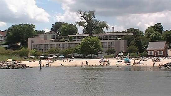 The Schooners Alliance Serenity View Of Yorktown Beach And Duke York Hotel From