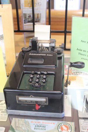 Pacific Railroad Museum: an adding machine