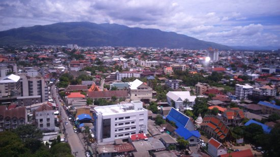 Duangtawan Hotel Chiang Mai: brilliant view from our room