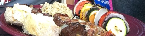 Invermere, Καναδάς: This is the vegetable skewer , teriyaki skewer and pork skewer...we bbq'd at our condo. Deliciou