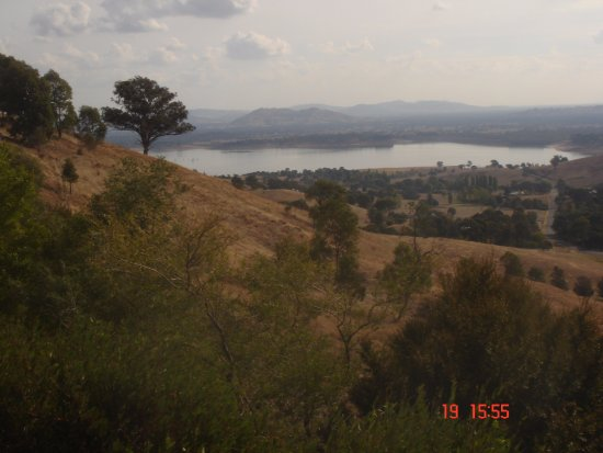 Lake Hume Village, Australië: View to Lake Hume to west