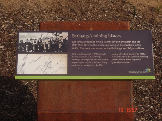 Lake Hume Village, Australia: History of Bethanga