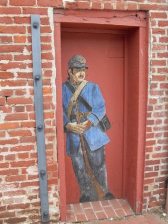 Fredericksburg, VA: bemalte Tür