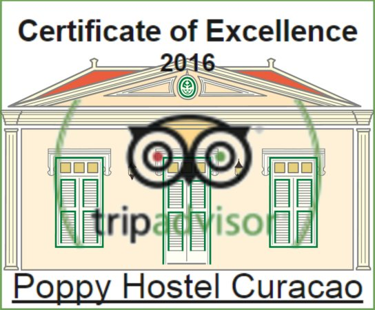 Poppy Hostel Curacao: 2016 CoE Award