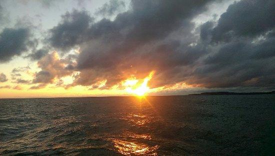 Sodus Point, estado de Nueva York: sodus Bay. sunrise