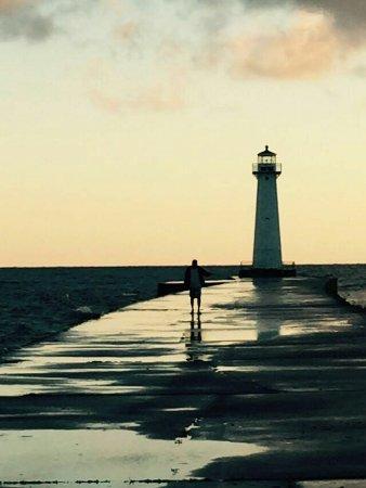 Sodus Point, Nowy Jork: sodus Bay. sunrise