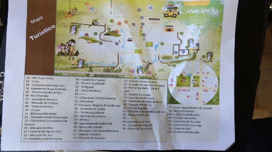 Bocaina Falls: mapa turistico