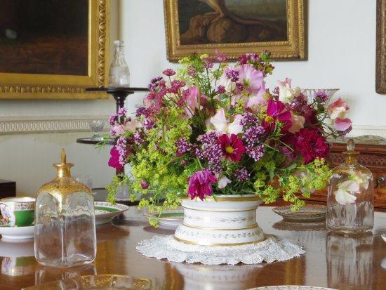 Parham House & Gardens: Flower arrangement in Parham House